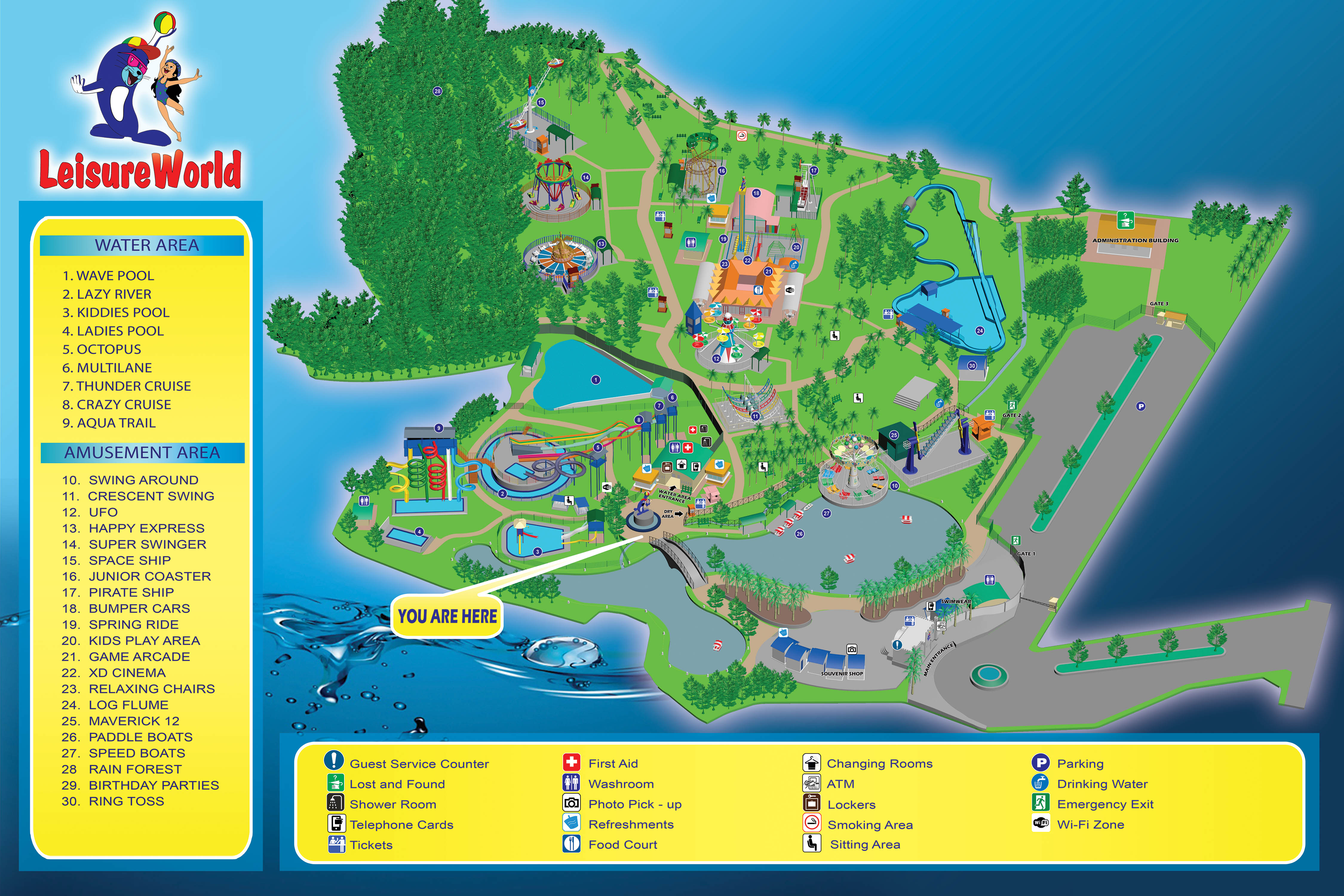 Mapjpg - Map of us water parks